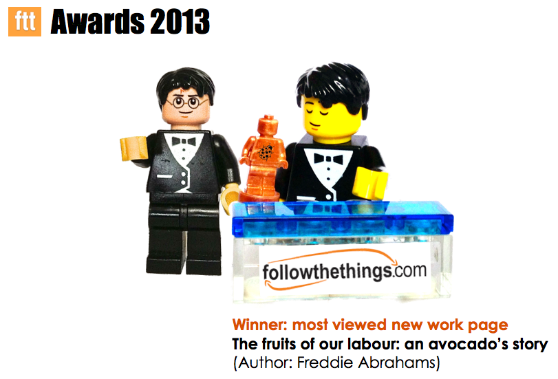 FTT Awards: Lego Fred graciously accepts his award.