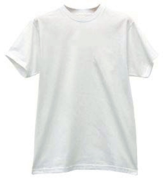 A cheap white tee (click for image source)